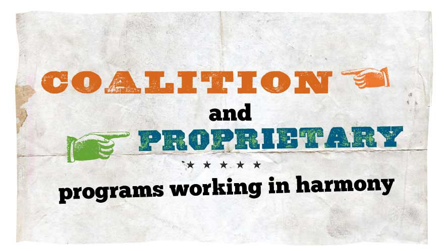 How (and Why) Proprietary and Coalition Programs Should Work in Harmony